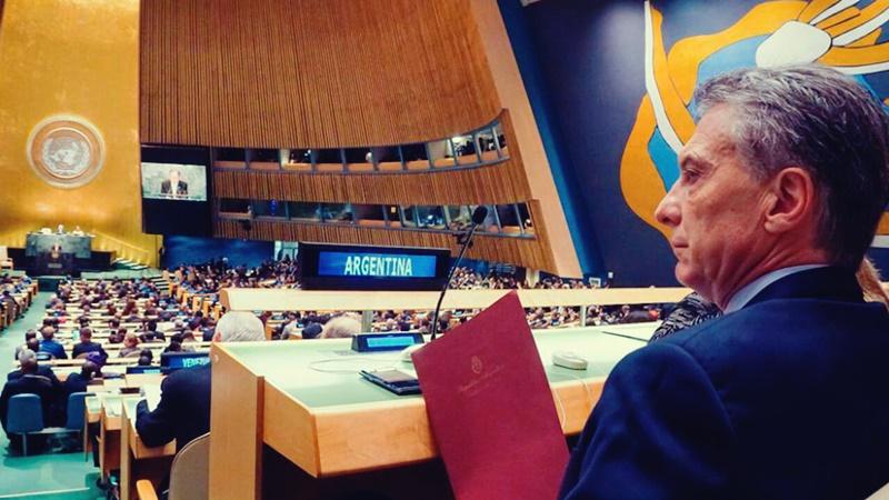 ¿A quién le habló Macri en la ONU?